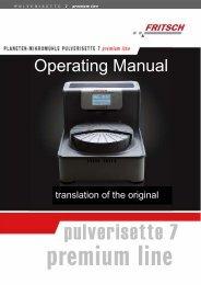 Planetary Micro Mill PULVERISETTE 7 premium line (PDF)