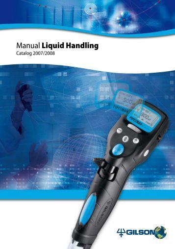 Manual Liquid Handling - John Morris Scientific
