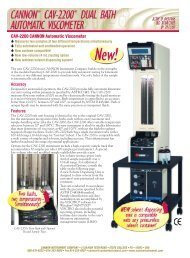 Cannon CAV-2200® Dual Bath Automatic Viscometer (PDF