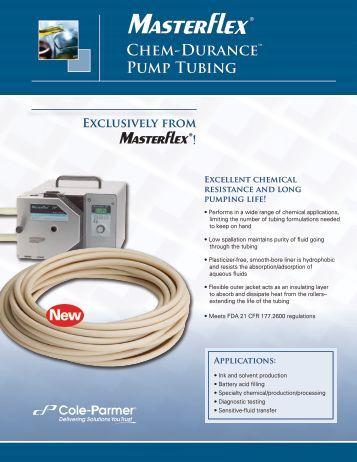 Chem-Durance™ Pump Tubing - John Morris Scientific