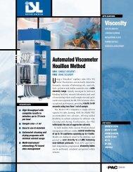 Viscosity automated Viscometer Houillon Method - John Morris ...
