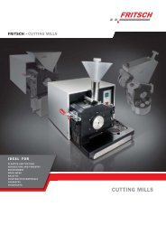 Fritsch Cutting Mills - Laboratory Synergy, LLC