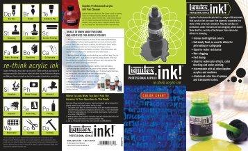 Ink Color Chart - Liquitex