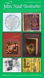 september 2011 update - John Neal, Bookseller