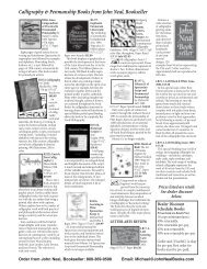 Calligraphy & Penmanship Books From John Neal, Bookseller