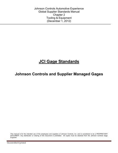 "Johnson Model /""B/"" Master Thread Gauge Inspection"