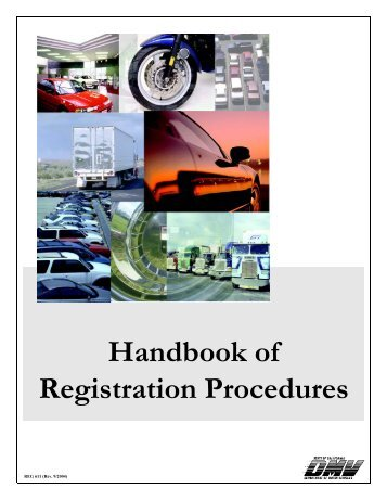 Handbook of Registration Procedures, Dealer ... - John's Used Cars