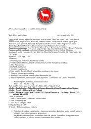 Jõhvi valla spordiklubide koosoleku protokoll nr 2. Koht ... - Jõhvi linn