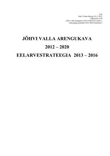 Arengukava 2012-2020 - Jõhvi Vallavalitsus