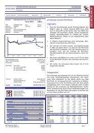 Unternehmensanalyse antwerpes 20.04.2005 ... - DocCheck AG