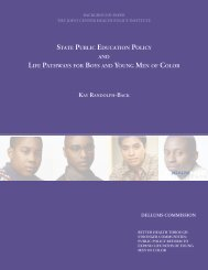 State Public Education Policy and Life Pathways for Boys and ...