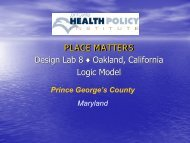 Prince George's DL8 Logic Model - Joint Center for Political and ...