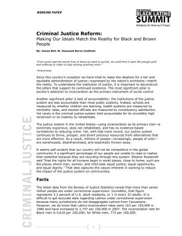 CRIMINAL JUSTICE - Joint Center for Political and Economic Studies