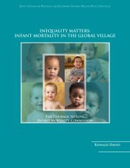 Inequality Matters: Infant Mortality in the Global Village