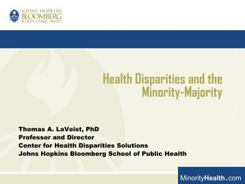 Health Disparities and the Minority-Majority - Joint Center for ...