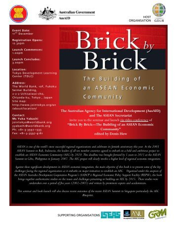 Brick by Brick Book Launch Program