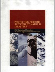 Protecting Persons Affected by Natural Disasters