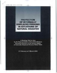 protection of internally displaced persons in situations of natural ...