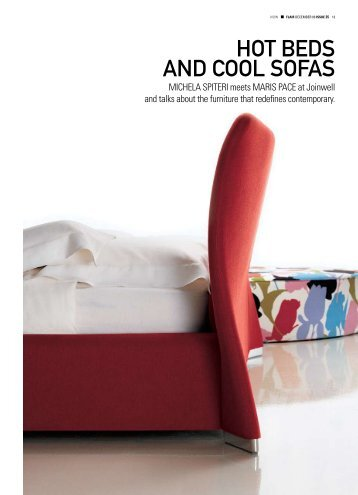 HOT BEDS AND COOL SOFAS - Joinwell Limited