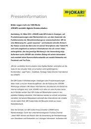 Kundenorientierte Produktentwicklung mit - JOKARI