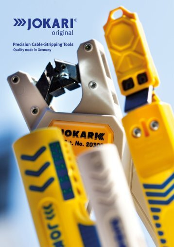 Precision Cable-Stripping Tools - Jokari