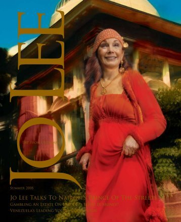 Jo Lee Talks To Nairobi's Prince Of The Streets - JO LEE Magazine