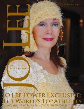 Jo Lee Power Exclusive: - JO LEE Magazine