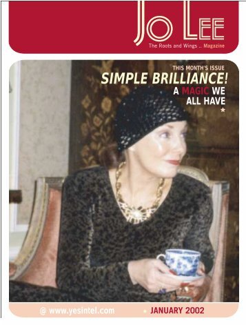 SIMPLE BRILLIANCE! - JO LEE Magazine