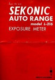 Sekonic L-216 Auto Range