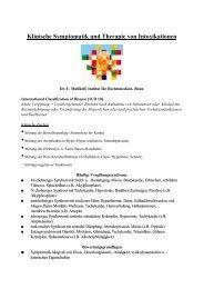 Klinische Symptomatik und Therapie von Intoxikationen