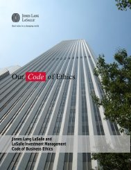 Code of Business Ethics - Jones Lang LaSalle