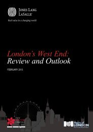 London's West End: Review and Outlook - Jones Lang LaSalle
