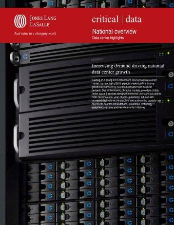 Data Center US National Overview - Jones Lang LaSalle