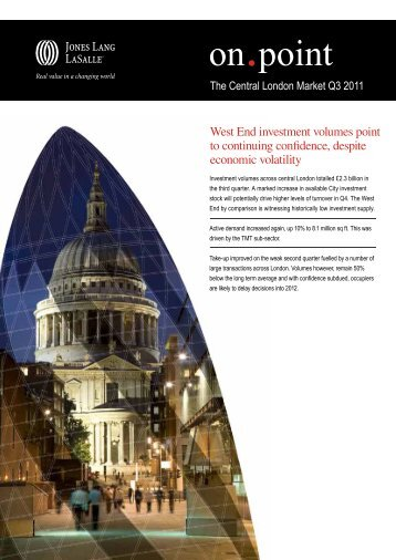 The Central London Market report - Jones Lang LaSalle