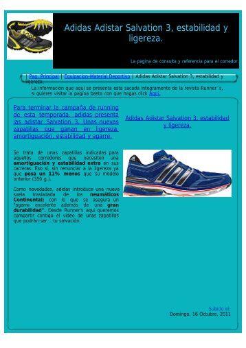 Adidas Adistar Salvation 3, estabilidad y ligereza.