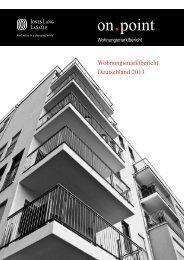 Wohnungsmarktbericht Deutschland 2013 - Jones Lang LaSalle