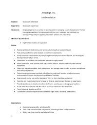 full job description in PDF format. - Jones Sign