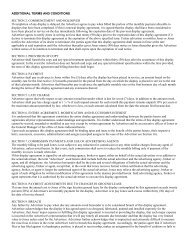 ADDITIONAL TERMS AND CONDITIONS SECTION 2 ... - Jones Sign