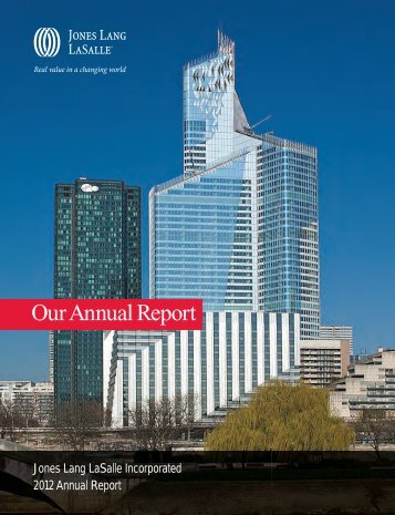 Our Annual Report - Jones Lang LaSalle