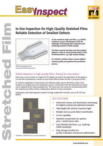 In-line Inspection for High-Quality Stretched Films Reliable ...
