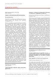 PANCREAS ALERTS - JOP. Journal of the Pancreas