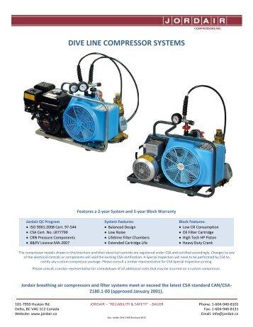 dive line series brochure - Jordair Compressors Inc.