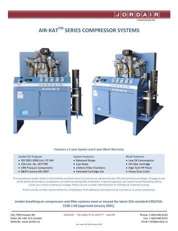 air-kat series brochure - Jordair Compressors Inc.
