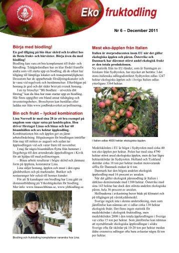 Nr 6 December 2011 Ekologisk fruktodling - Jordbruksverket