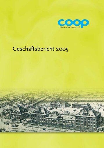 coop Geschäftsbericht 2005 - co op Minden-Stadthagen eg