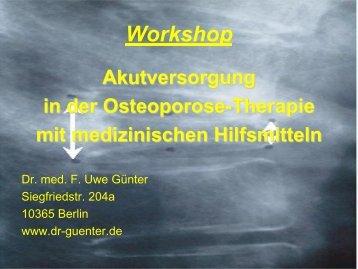 Die pathologische Wirbel(körper)fraktur Klinik - Praxis Dr. Günter