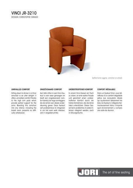 Design Fauteuil Jori.Vinci Jr 3210 Jori