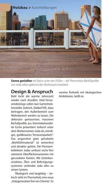 Design & Anspruch Barfußdiel Frisch dek