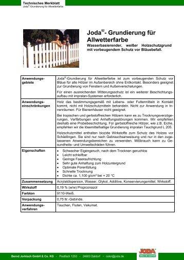 Technisches Merkblatt - Jorkisch GmbH & Co. KG