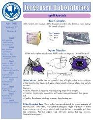 Nylon Muzzles - Jorgensen Laboratories